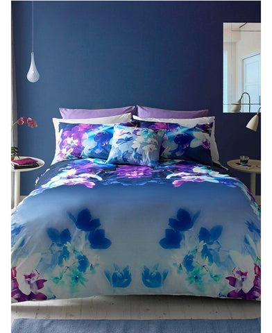 Lipsy London Mirrored Orchid Double Duvet Cover and Pillowcase Set