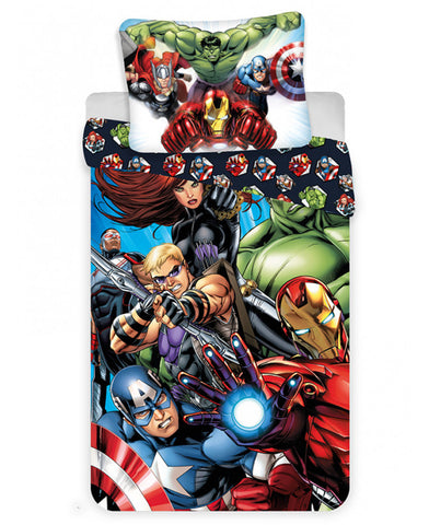 *NEW* Marvel Avengers 100% Cotton duvet cover Reversible Duvet cover set