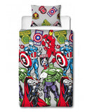 Marvel Avengers Stickers Single Duvet Cover Set
