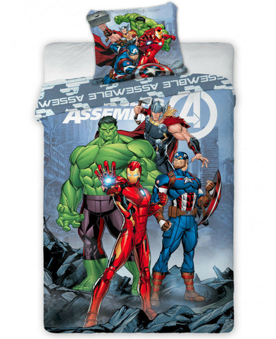 Marvel Avengers Assemble Single Duvet Cover Set