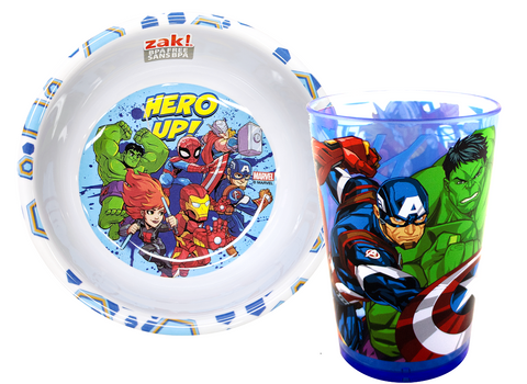 Marvel Avengers Meal Time Bowl and Cup Set