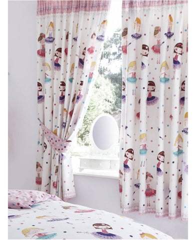 "Ballerina Lined Curtains  66"" wide (168cm) x 72"" drop (183cm)"
