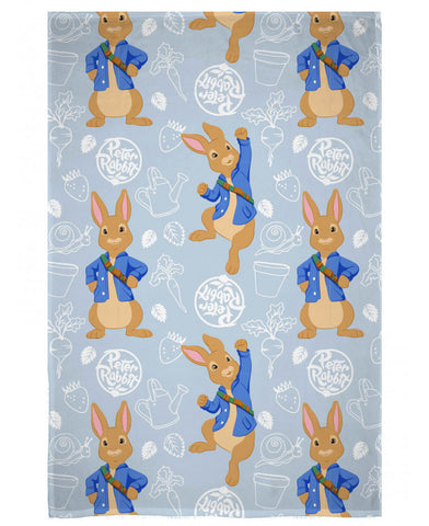 Peter Rabbit Hopping Fleece Blanket