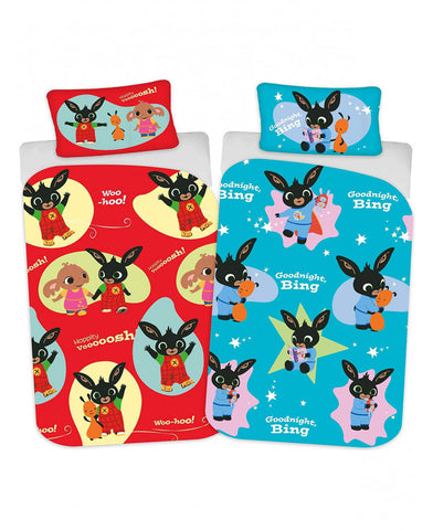 Bing Bunny Woosh Single Duvet Cover Set