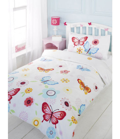 Butterfly Cot/Junior /Toddler Duvet Cover & Pillowcase Set