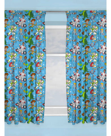 Toy Story 4 Rescue Curtains  66in wide (168cm) x 54in drop (137cm)