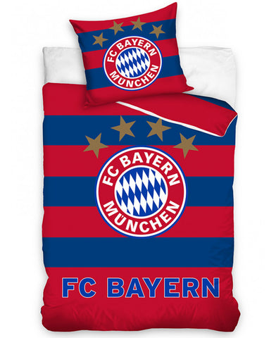 FC Bayern Munich Stripe Single Cotton Duvet Cover Set