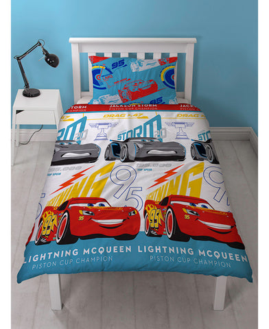 Disney Cars 3 Lightning Single Duvet Cover Set