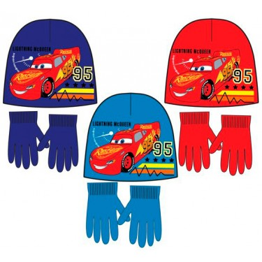 Disney Cars Winter Beanie/ Hat and Gloves Set