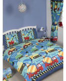 Construction Time Double/Queen Duvet Cover and Pillowcase Set