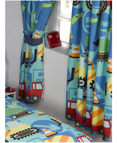 Construction Time Lined Curtains 66in wide (168cm) and 72in drop (168cm)