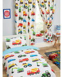 Trucks and Transport Lined Curtains - 66in wide (168cm) and 54in drop (137cm)