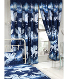 Stardust Unicorn Lined Curtains - Navy Blue  66in wide x 72in drop