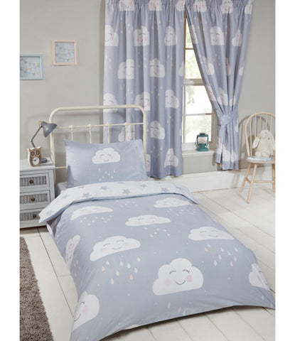 Happy Clouds Lined Curtains 66in wide (168cm) and 54in drop (137cm)