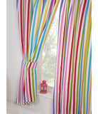 Rainbow Sky Striped Lined Curtains 66in wide (168cm) and 54in drop (137cm)