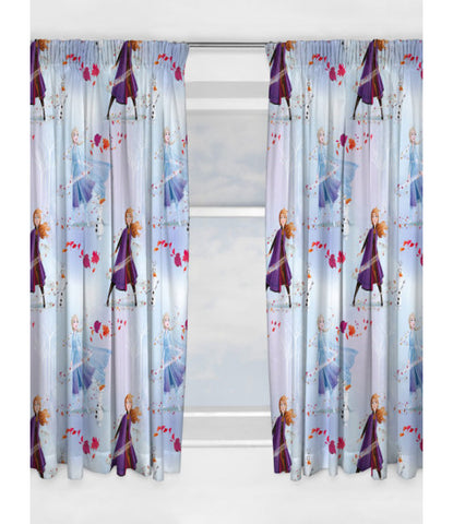 Disney Frozen 2 Element Curtains set 66in wide (168cm) x 54in drop (137cm)