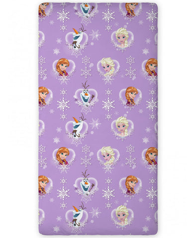 Disney Frozen Lilac Single Fitted Sheet