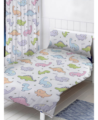 Dinosaurs Junior Toddler/Junior Duvet Cover and Pillowcase Set