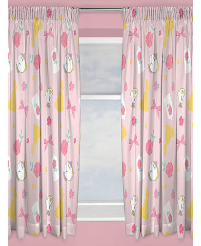 Disney Princess Beauty and the Beast Curtains 54''