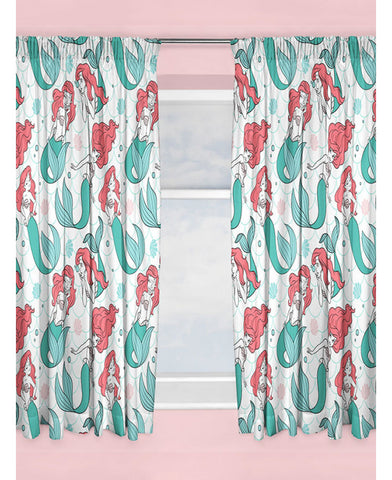 Disney Princess Ariel Little Mermaid Curtains 54''