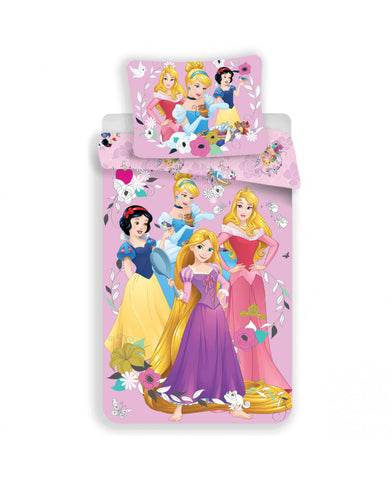 *NEW* Disney Princess Pink Single Cotton Duvet Cover and Pillowcase Set