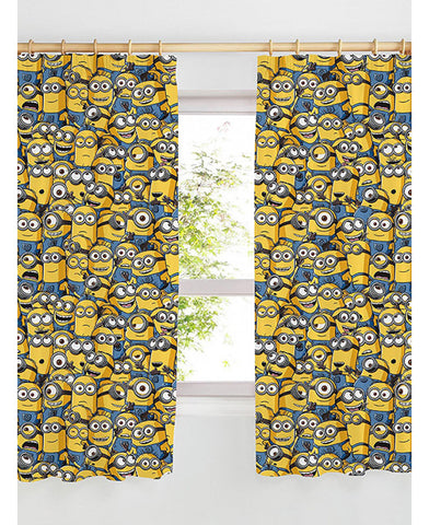 Despicable Me Minions Curtains 66in wide (168cm) and 54in drop (137cm)
