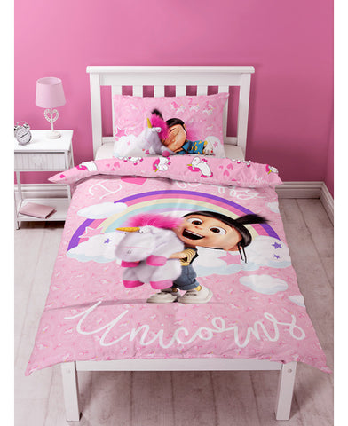Despicable Me Daydream Fluffy Unicorn Single Panel Duvet Cover Set