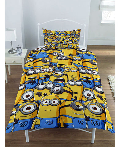 Despicable Me Minion Army Single Duvet Cover and Pillowcase Set