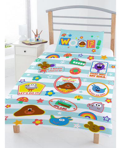 Hey Duggee Woof  Cot/ Junior Toddler Duvet Cover & Pillowcase Set