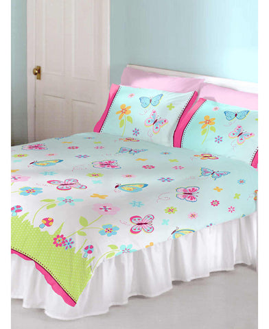 Butterfly Garden Double Duvet and Pillowcase Set