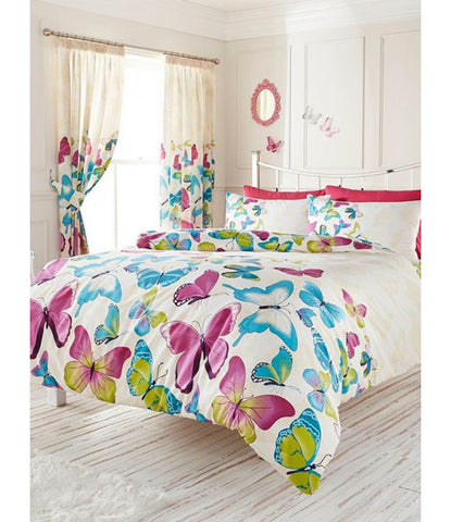 Fashion Butterfly King Duvet Cover and Pillowcase Set