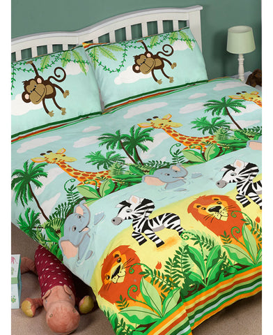 Jungle-Tastic Double/Queen Duvet Cover And Pillowcase Set