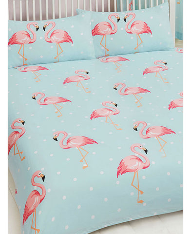 Fifi Flamingo Double Duvet/Queen Cover And Pillowcase Set
