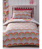 Clouds and Rainbows Single Duvet Cover and Pillowcase Set