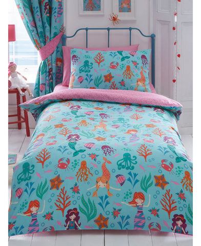 *NEW* Mermaid Double/Queen Duvet Cover and Pillowcase Set