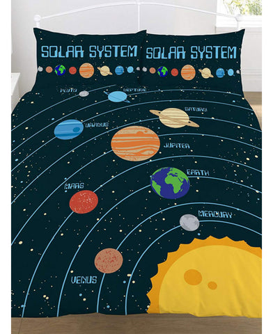 Solar System Double/QueenDuvet Cover And Pillowcase Set