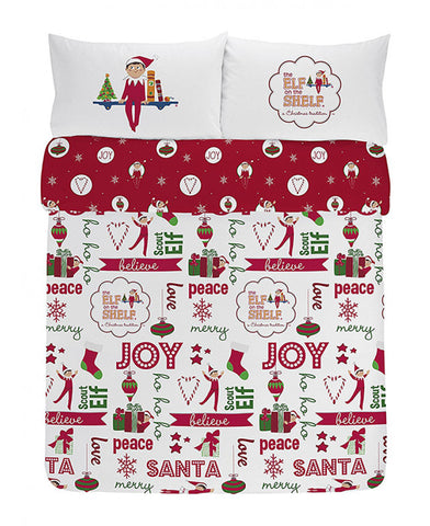 Elf On The Shelf Double/Queen Cotton Duvet Cover And Pillowcase Set