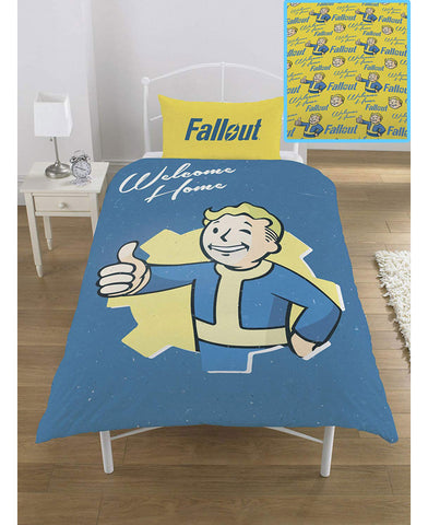 Fallout Vault Boy Single Duvet Cover Set