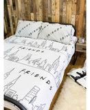 Friends Scene Double/Queen Duvet Cover and Pillowcase Set