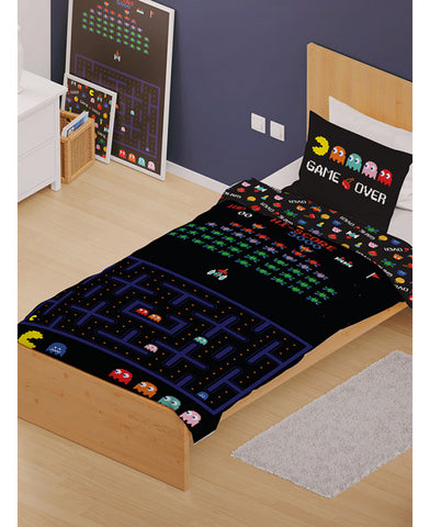 Retro Games Single Duvet Cover and Pillowcase Set