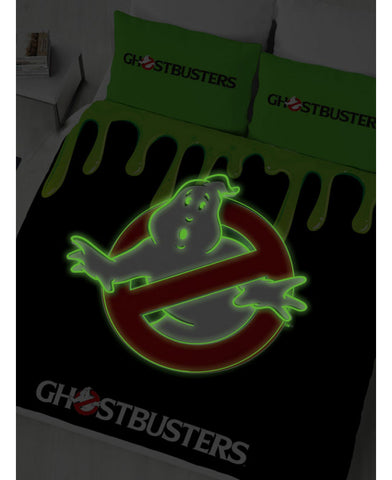 Ghostbusters Glow in the dark Double/Queen Duvet Cover and Pillowcase Set