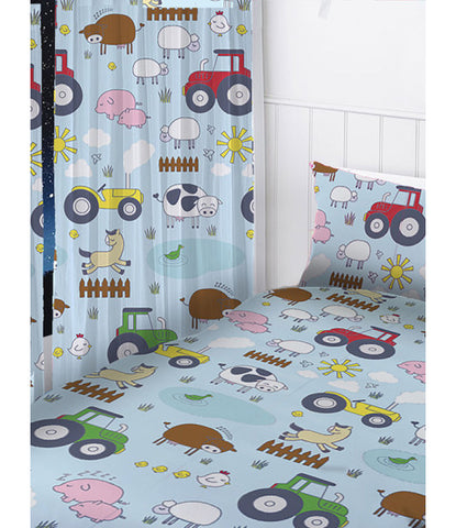 Farm Animals Curtains 66in wide (168cm) x 54in drop (137cm)