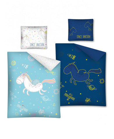 Space Unicorn Glow in the Dark Single Cotton Duvet Cover Set
