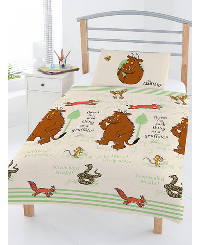 The Gruffalo Woodland toddler/ Junior Duvet Cover Set