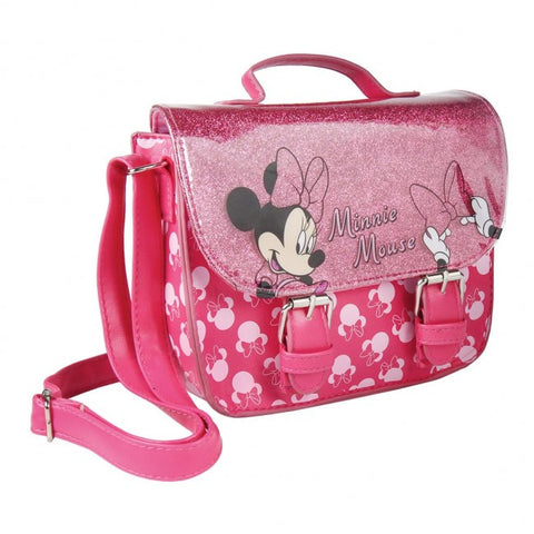 Minnie Mouse PU Leather Glitter Hand Bag