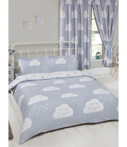 Happy Clouds Double/Queen Duvet Cover and Pillowcase Set