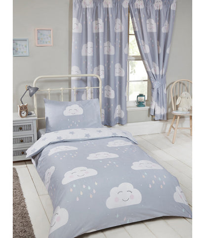 Happy Clouds Single Duvet Cover and Pillowcase Set