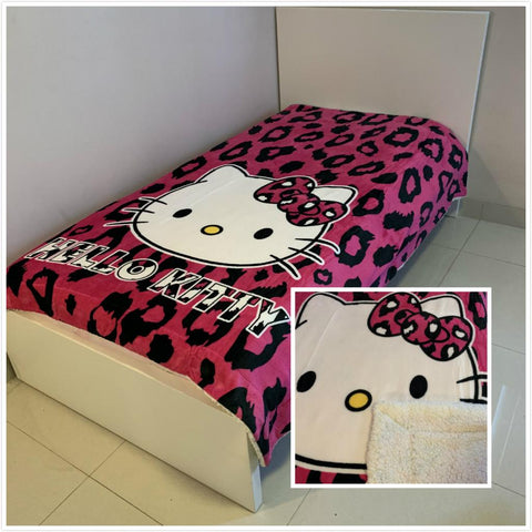Hello Kitty Thick Wool back Single /king single mink blanket
