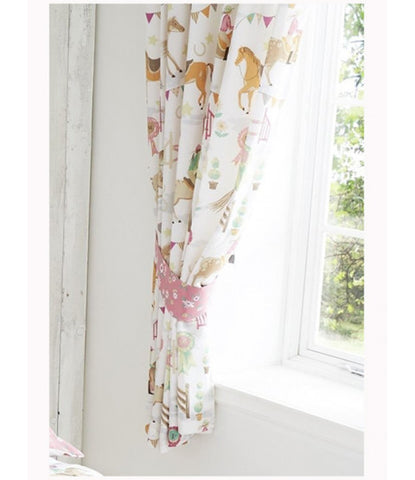 "Horse Show Lined Curtains 66"""" wide (168cm) x 72"""" drop (183cm)"