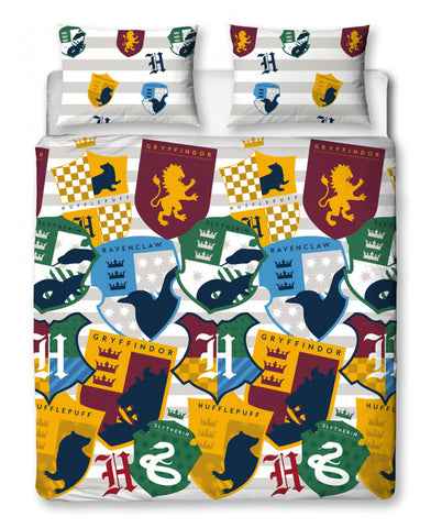 Harry Potter Stickers Double/Queen Duvet Cover Set